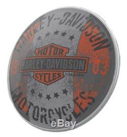 Harley-davidson Bar & Shield Distressed Dome Pub Lumière Hdl-15630