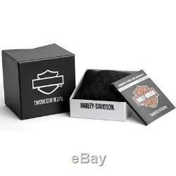 Harley-davidson Bar & Shield Dorées Montre En Acier Inoxydable 78a126