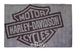 Harley-davidson Bar & Shield Grand Tapis Gris Profond Acrylique Hdl-19502