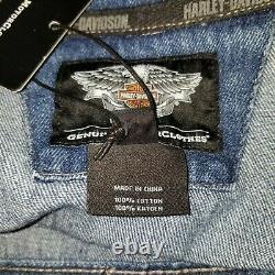 Harley-davidson Bar & Shield Hommes Denim Jean Veste Taille 3xl Nouveau Rn 103819