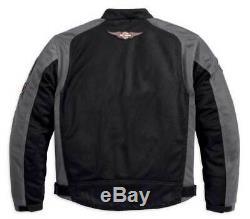 Harley-davidson Bar & Shield Hommes Logo Mesh Black Jacket 98233-13vm