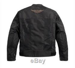 Harley-davidson Bar & Shield Hommes Logo Mesh Ce Riding Veste 98162-17em Grand