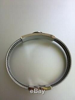 Harley-davidson Bar & Shield Hommes Logo Steel Cable ID Bracelet, Hsb0068