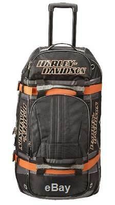 Harley-davidson Bar & Shield Logo 22 Sac De Transport À Roulettes Avec Bagage À Main 99415-noir