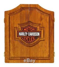 Harley-davidson Bar & Shield Logo Dart Board Cabinet Pin Cabinet En Bois 61905