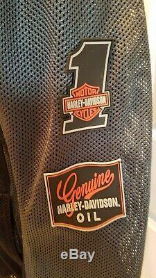 Harley-davidson Bar & Shield Logo Mesh Riding Jacket Noir Armored Grand