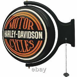 Harley-davidson Bar & Shield Lumière Rotative De Barre De Mur