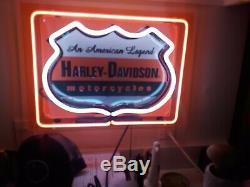 Harley-davidson Bar & Shield Neon Chaque Grotte Mans Doit Avoir, Grand Prix! Dope