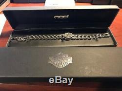 Harley-davidson Bar & Shield Pour Hommes Chaîne En Acier Inoxydable Bracelet Hsb0015