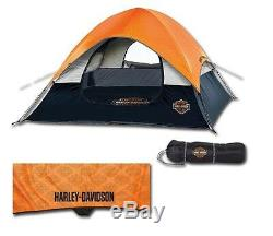 Harley-davidson Bar & Shield Road Ready Tente Extérieure De Camping Pour 3 Personnes Hdl-10011a