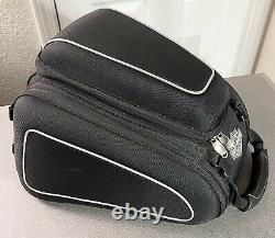Harley-davidson Bar & Shield Tail Bag À Fermeture Éclair Reflective Piping Noir 93300069