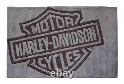 Harley-davidson Bar & Shield Teppich Groß Grau Acrylflor 2,5m X 1,5 Hdl-19502