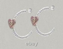 Harley-davidson Barre De Coeur Rose Pour Femmes Et Boucles D'oreilles Bouclier Hde0548