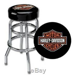 Harley-davidson Classic Bar & Shield - Tabouret De Bar Avec Le Logo Hdl-12116a