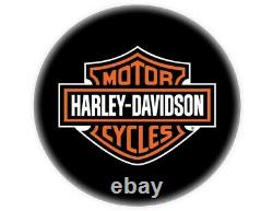 Harley-davidson Classique Bar And Shield Barhocker Hdl-12204 Schwarz Chrom Lehne