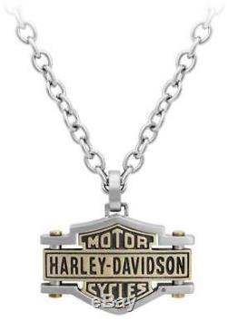 Harley-davidson, Collier En Laiton Pour Homme, Chaîne Pour Barres Et Boucliers, Hsn0045-22