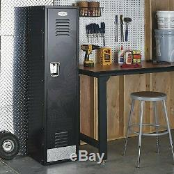 Harley-davidson D'eagle Bar & Shield Métal Steel Storage Locker Cabinet Noir