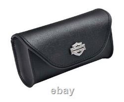 Harley-davidson Diamond Ice Bar & Shield Sac Pare-brise En Cuir, Noir 93300055