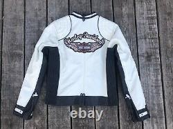 Harley-davidson Femme Amelia Bar - Shield Veste En Cuir Blanc 98072-14 Petite