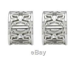 Harley-davidson Femmes Argent Bar & Shield Mini Hoops Médaillon Boucles D'oreilles Hde0508