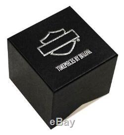 Harley-davidson Femmes Bar & Shield Silver & Gold Montre En Acier Inoxydable 78l129