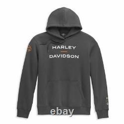 Harley-davidson Herren Hoodie Horizon Logo Grau 96450-21vm Kapuze Bar & Shield