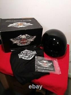 Harley-davidson Homme Barre Et Bouclier Demi Casque Avec Bouclier Solaire 98212-10vm Petit