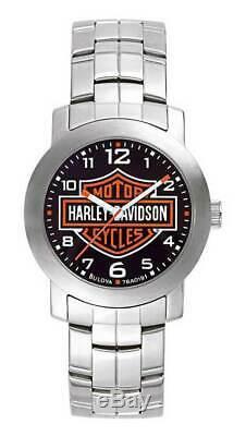 Harley-davidson Homme Bulova Bar & Shield Montre 76a019