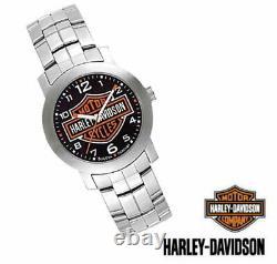 Harley-davidson Homme Bulova Bar & Shield Wrist Watch 76a019 Pdsf 150,00 $