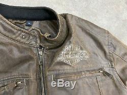 Harley-davidson Hornback Men Moto Bar & Shield Jacket Casual, Brown 98564-15vm