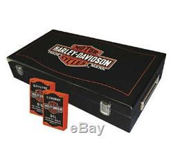 Harley-davidson Long Bar & Shield Logo De La Marque Professional Poker Set 69300d