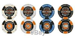 Harley-davidson Marque Bar & Shield Professional Poker Chip Set Jeu 69300