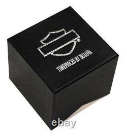 Harley-davidson Men's Bar & Shield Script Watch, Acier Inoxydable/cuir 76a155