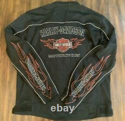 Harley-davidson Mens Bar & Shield Flammons Prêt Mesh Veste 98304-10vt