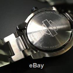 Harley-davidson Mens Bulova Montres Bar & Shield Gaufrée Inoxydable 76b169