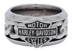 Harley-davidson Mod Chaîne En Acier Bar & Shield Anneau Gr. 9 = 19 MM Ø Edelstahl