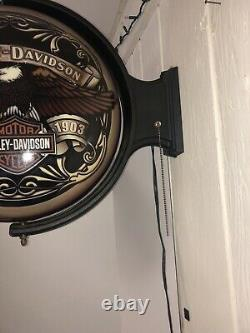 Harley-davidson Motorcycles Bar & Shield Eagle Pub Light Sign Bar Man Cave Cadeau