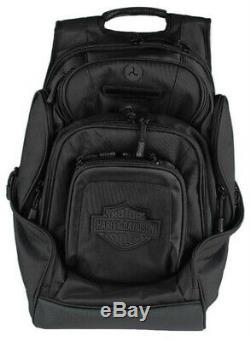Harley-davidson Noir Bar & Shield 8 Pocket Deluxe Sac À Dos Bp2000s-blkblk