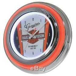 Harley-davidson Nostalgique Bar & Shield Double Led Horloge, 14 Pouces Hdl-16635