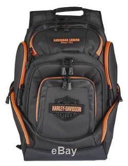 Harley-davidson - Sac À Dos De Luxe Bar And Shield Orange Neon Orange, Noir Bp2000s-orgblk