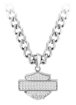 Harley-davidson Stainless Steel Bar/shield Logo Pendentif / Collier Hsn0049