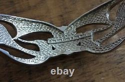Harley-davidson Sterling Argent. 925 Flaming Bar & Shield Cuff Bracelet Fm