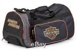 Harley-davidson Trolli A99416 Reisetasche Schwarz Bar & Shield Logo Mit Rollen