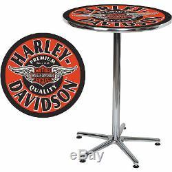 Harley-davidson Winged Bar & Shield Bar 41inh Table-