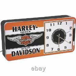 Harley-davidson Winged Bar & Shield Led Horloge Ad