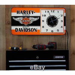 Harley-davidson Winged Bar & Shield Led Horloge Annonce