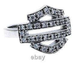 Harley-davidson Women's Bling Bar & Shield Sterling Silver Hdr0378-6