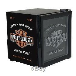 Hd Harley Davidson Bar & Shield Beverage Chiller Hd Avec Réfrigérateur Livraison Gratuite