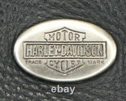 Homme Harley Davidson Gilet En Cuir 2xl Noir De Base Skins Rider Snap Bar Shield