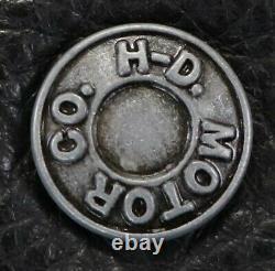 Homme Harley Davidson Gilet En Cuir 3xl XXXL Noir Juneau Snap Bar Bouclier Cailloux